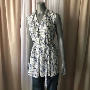 Anthro brand Thyme Butterfly Poly Tunic sz M